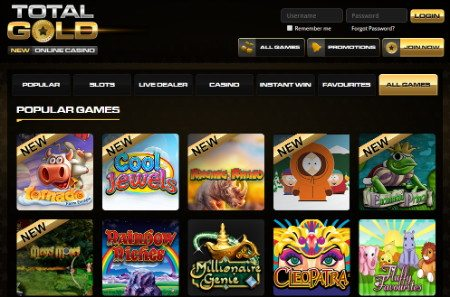 Play Games At Total Gold Casino